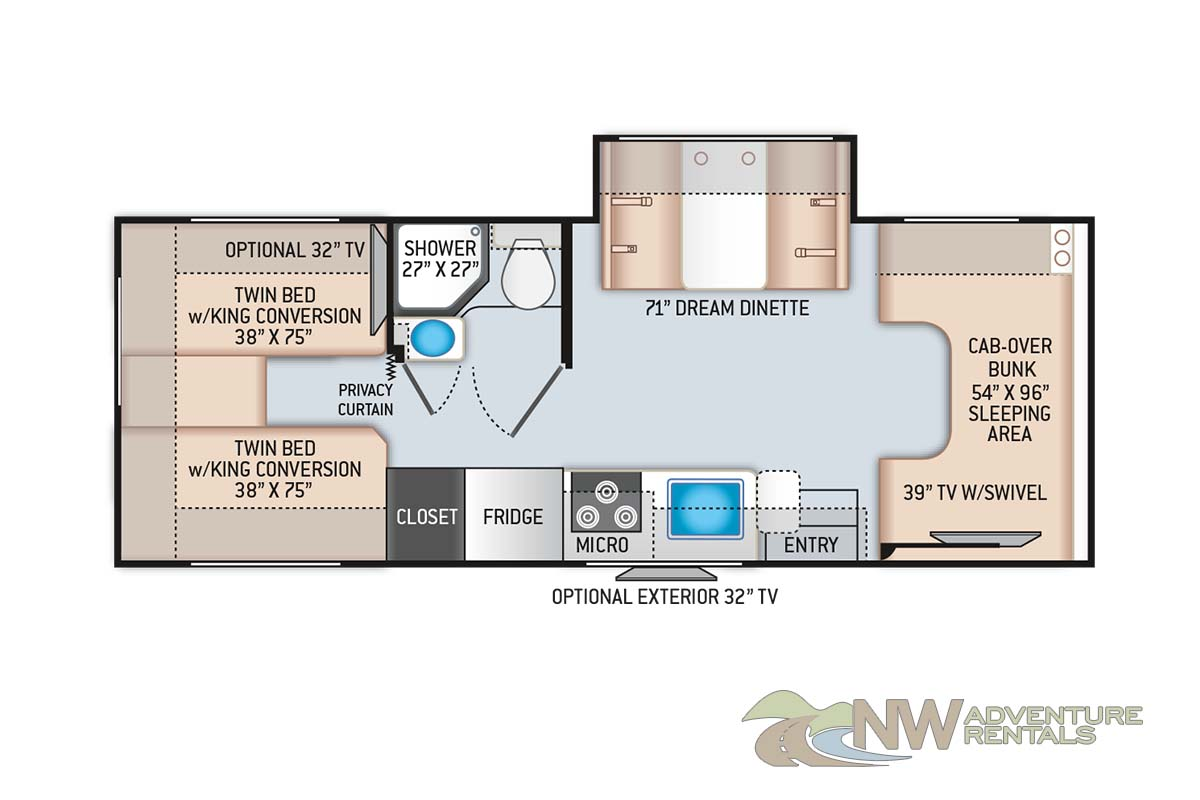 NW Adventure Rentals - 2021 Chateau Floor Plan