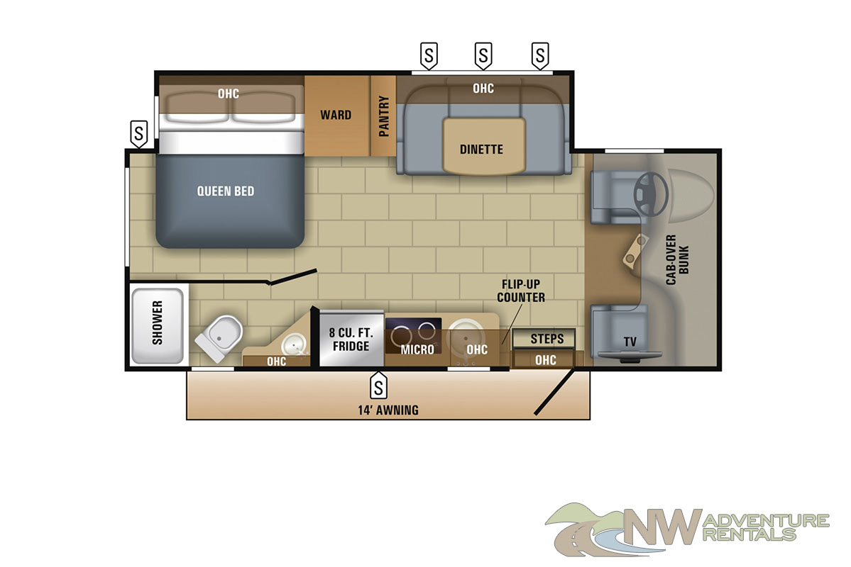 NW Adventure Rentals - 2018-Melbourne 2 - Floor plan