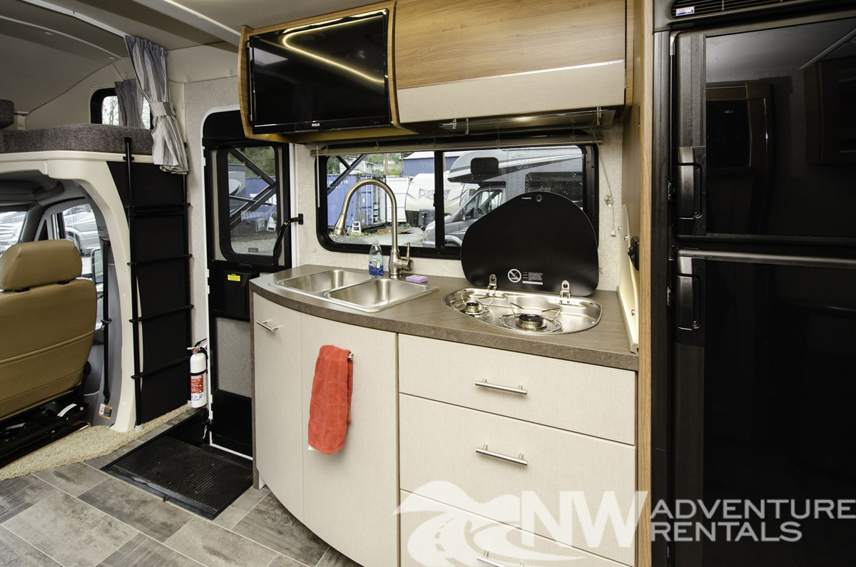 MW Adventure Rentals - 2018 Navion Interior Kitchen